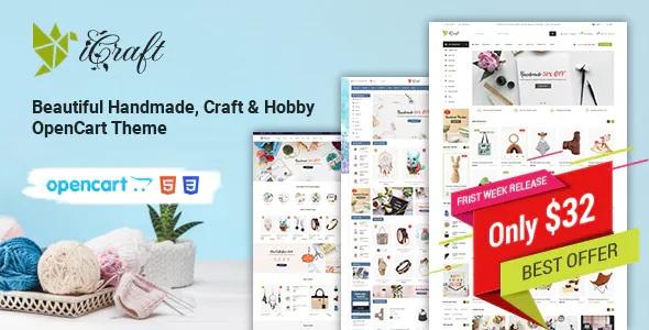 Best Handmade, Craft and Hobby Minimal OpenCart Theme