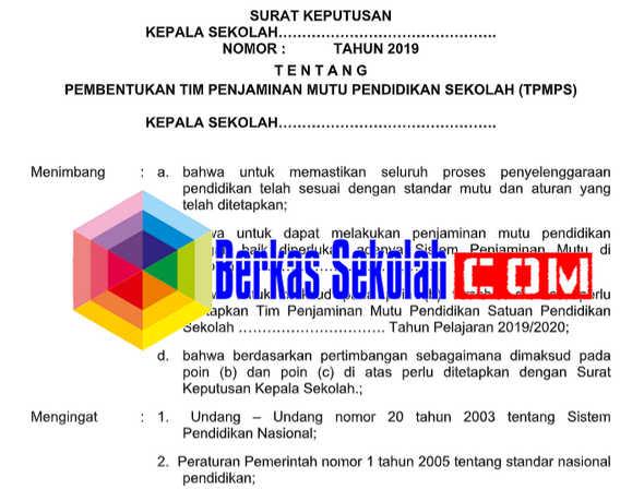 Contoh SK TPMPS