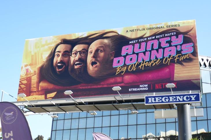 Aunty Donnas Big Ol House of Fun billboard
