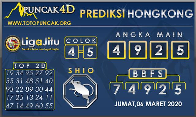 PREDIKSI TOGEL HONGKONG PUNCAK4D 06 MARET 2020