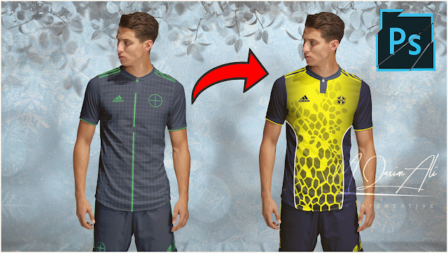 Most Attractive Football Kit Design in Photoshop cc 2019 by M Qasim Ali