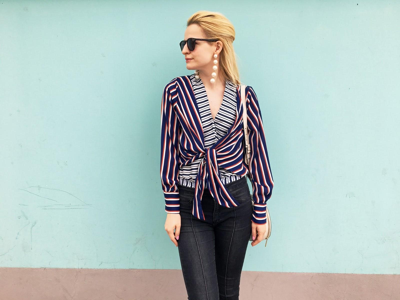 stripe shirt outfit, с чем носить рубашку в полоску, модный стиль, модные наряды