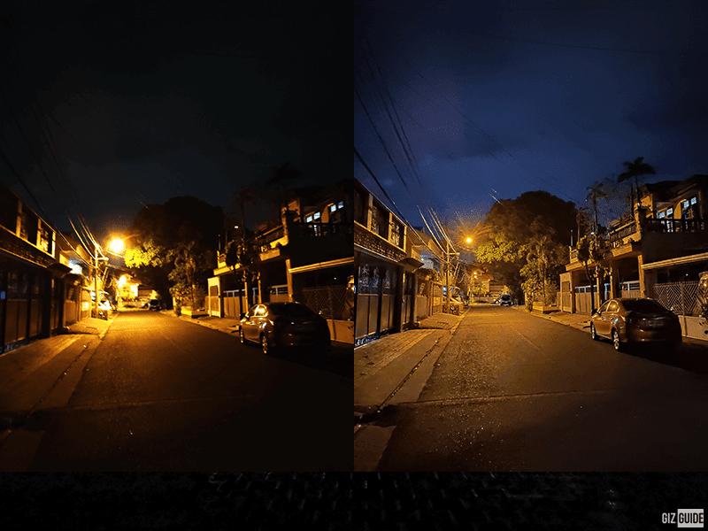 Normal vs night mode
