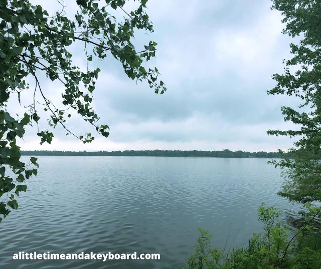 Serene morning view of Lake Bde Maka Ska in Minneapolis
