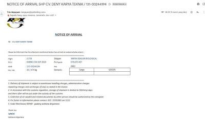 Contoh Surat Pengambilan Delivery Order (DO) Impor Udara