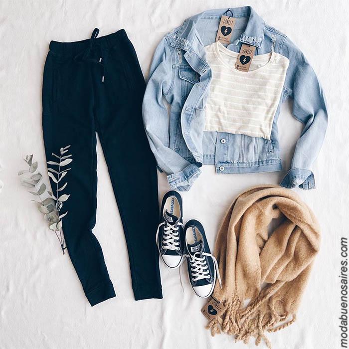 Moda invierno 2019 mujer argentina. Pantalones de jeans, babuchas, buzos, sweaters, sacos tejidos, remeras, ropa de mujer 2019 con precios argentina.