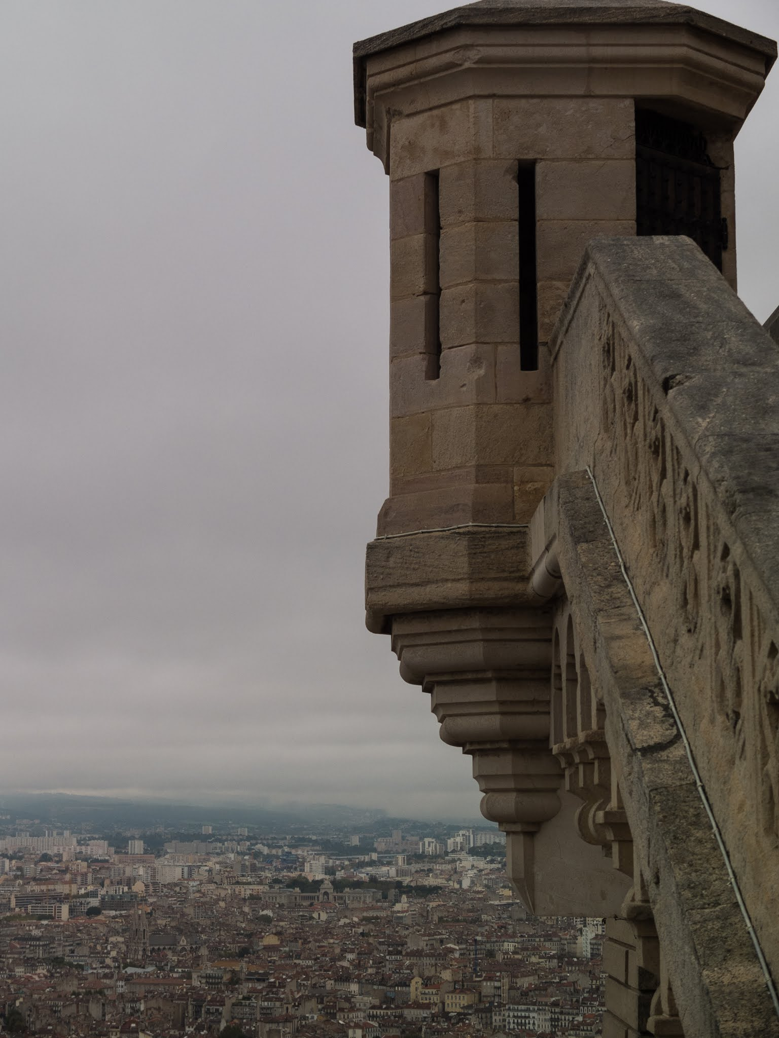 View of Marseille from the Basilica of Notre Dame de la Garde.