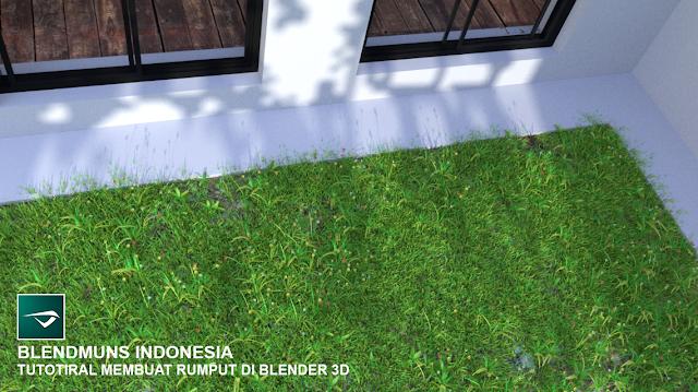 Tutorial membuat rumput realistis di Blender 3D