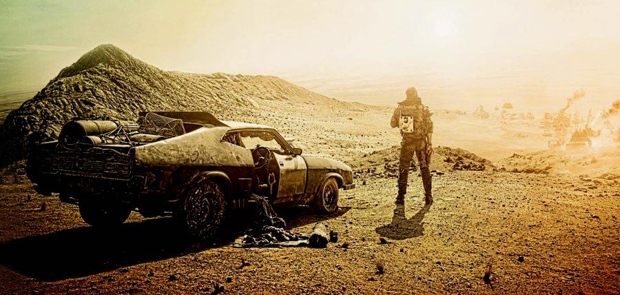 Tom Hardy în rolul Max Rockatansky din filmul Mad Max: Fury Road