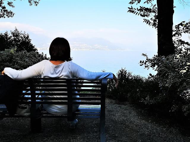 Vista sul lago Maggiore dal parco della Villa Pallavicino
