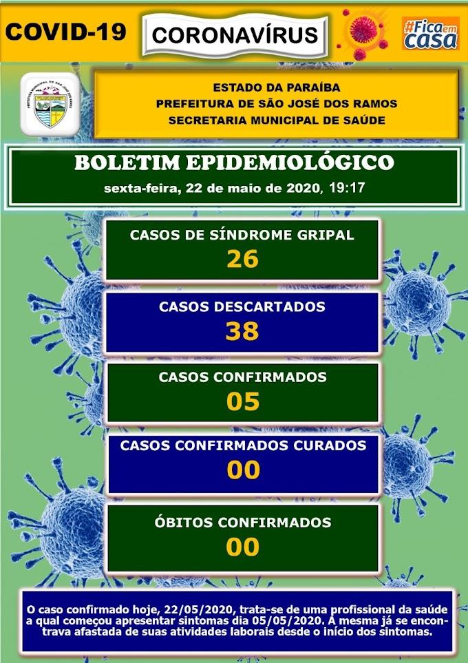 BOLETIM CORONA-VÍRUS (São José dos Ramos): Fique informado sobre atualizações em sua cidade. (22/05/2020).