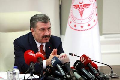 وزير الصحة التركي:ارتفاع عدد الوفيات بسبب كورونا إلى 9 أشخاص وسجلت 311 حالة جديدة