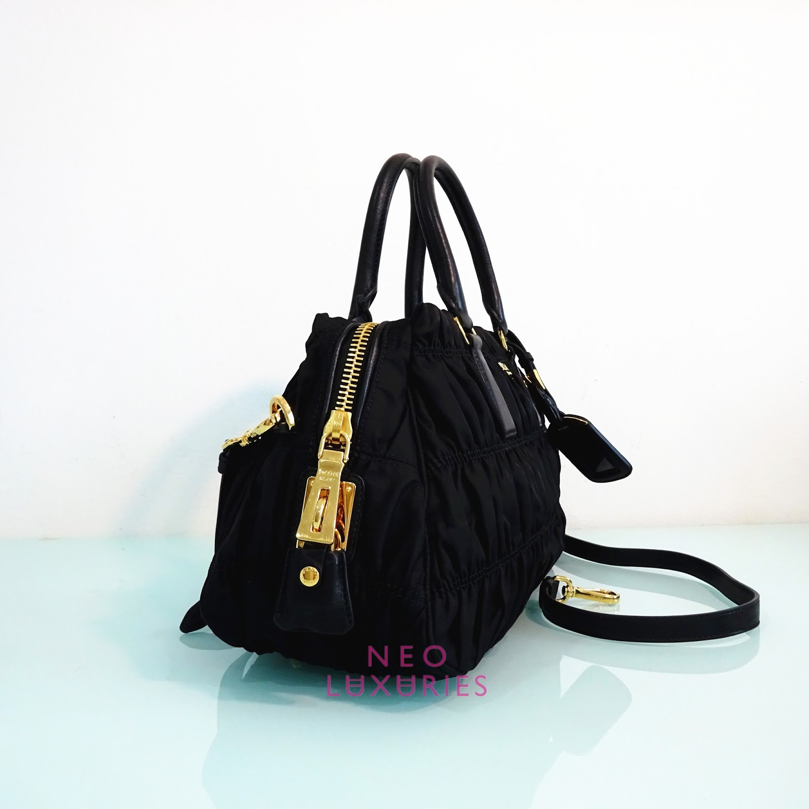 267846fce031 ... cheap attached thumbnails neo luxuries sold prada tessuto nappa gaufre  small top handle bag bn1407 b1407m ...