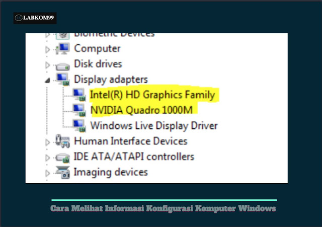 Cara Melihat Informasi Konfigurasi Komputer Windows