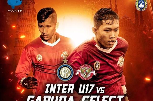 Streaming Inter Milan U-17 vs Garuda Select di Mola TV Gratis