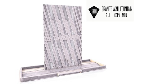 [ ISHIKU GROUP GIFT ] Granite Wall Fountain