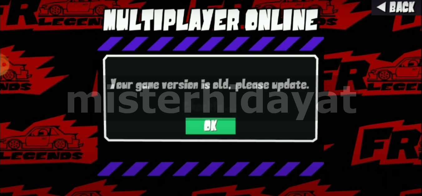 Cara Mengatasi Error FR Legends Gagal Masuk Mode Multiplayer Work 100%