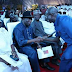 Adams Oshiomhole Prostrates To Greet Goodluck Jonathan At Oba's Coronation, Benin