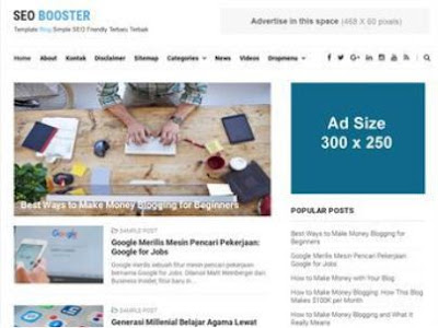 SEO Booster Template Blogger Simple SEO Friendly Terbaru 2018