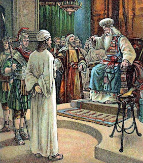 Jesus examined by the High Priest