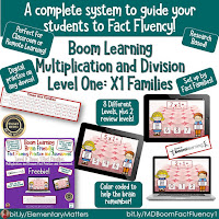 Level 1 Boom Cards Math Fact Fluency Multiplication and Division