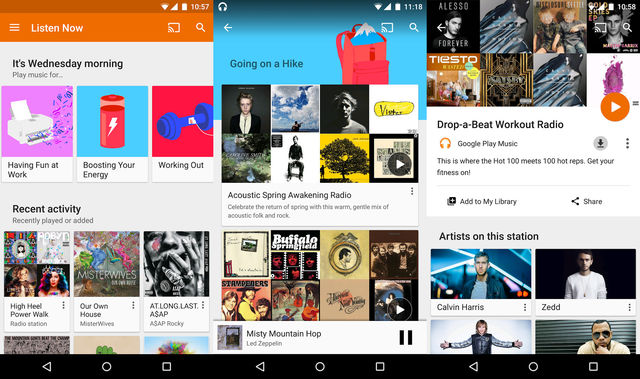 Music Streaming Using Google Play Music