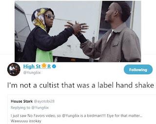 Yung6ix replies a fan who called him a Cultist