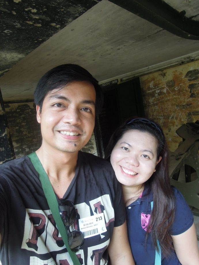 Inside Battery Way's ammunition storage barracks at Corregidor Island