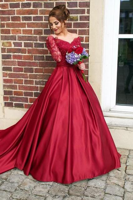 فستان أحمر لغير المحجبات