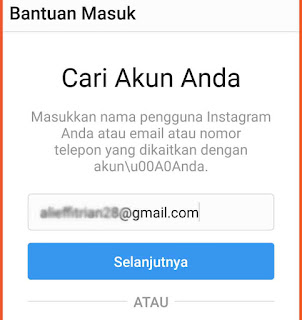 Cara mengganti password Instagram 1