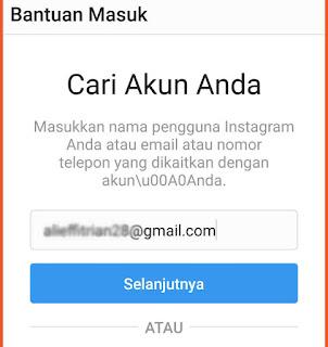 Cara mengganti password Instagram 1