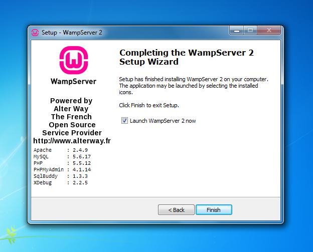 cara install wamp windows