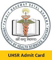 UHSR Admit Card