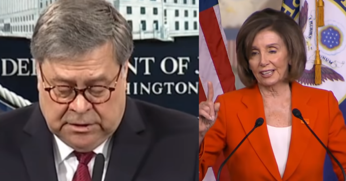 Bill Barr Shuts Down Pelosi, Ends Her Reign Of Terror With New Legal Opinion