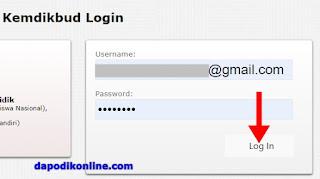Masukkan username dan password kemudian klik login