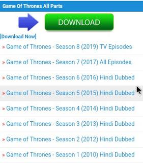 ( Filmyzilla 2019 ) Game Of Thrones Hindi Dubbed [ All Episode ] Download in Filmyzilla
