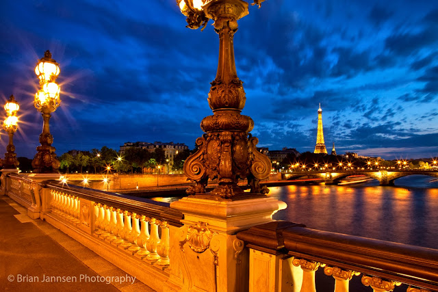 One of the most ornate bridges in all of Paris, the Pont Alexandre III was built for the 1900 Exposition Universelle.