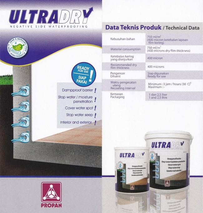 Waterproofing ULTRADRY  Untuk Dinding Dalam Yang Lembab