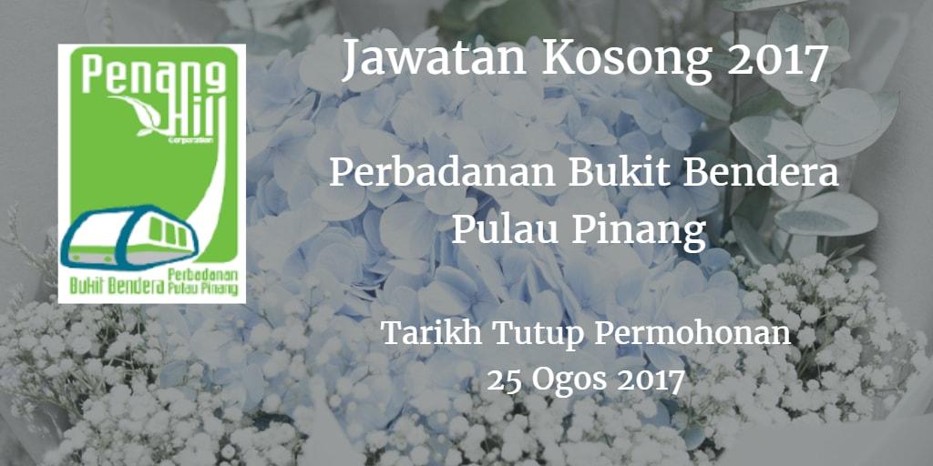 Jawatan Kosong Perbadanan Bukit Bendera Pulau Pinang 25 Ogos 2017
