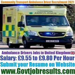 Community Transport Ambulance Driver Recruitment 2021-22