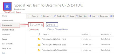 Channels in the SharePoint File Structure
