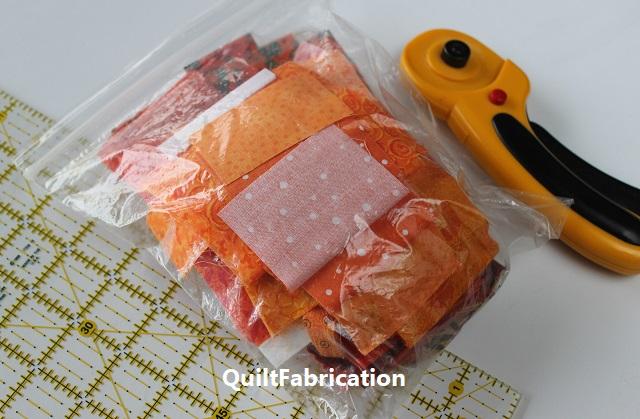 small bag of orange scraps