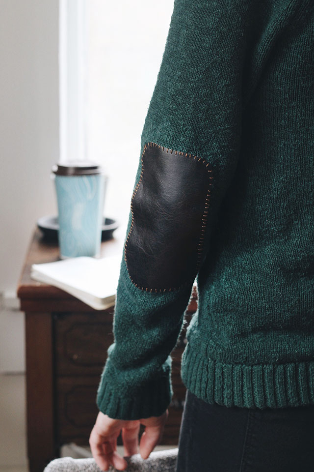 How to make and add elbow patches to a sweater