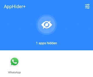 aplikasi telah disembunyikan