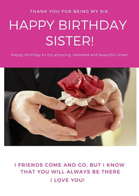 birthday message for elder sister
