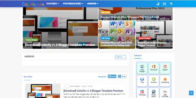 Hartomy Original Premium Template Blogspot Download Free