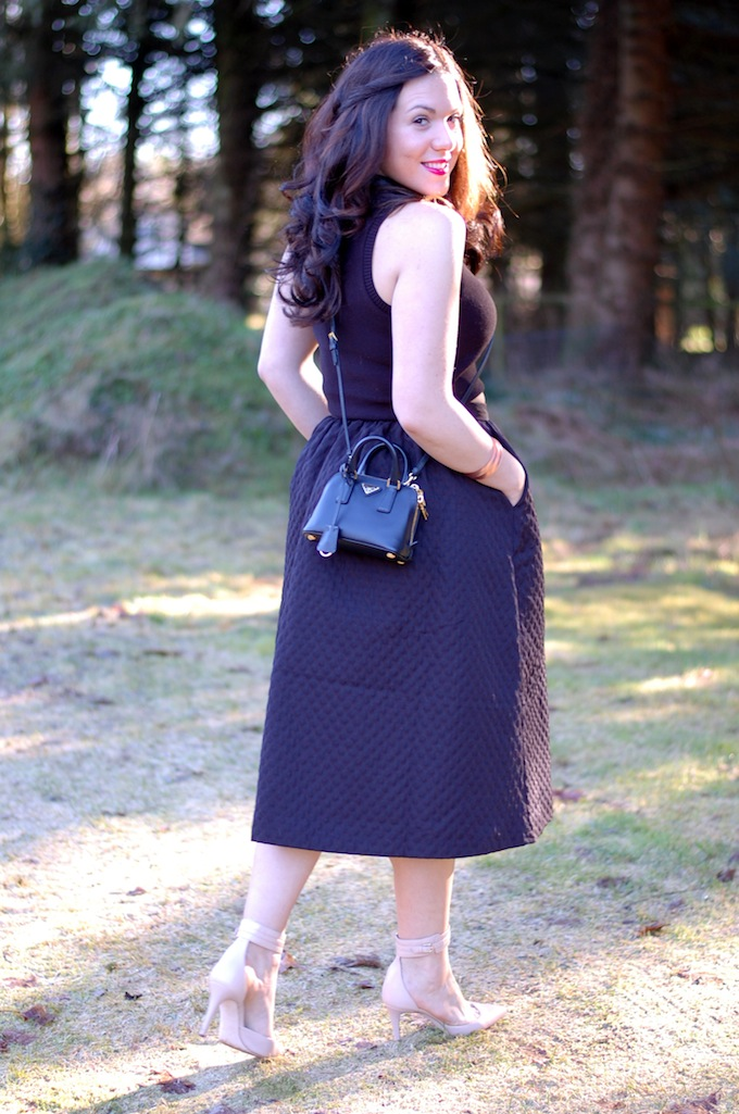 Crop top and midi skirt outfit Covet and Acquire