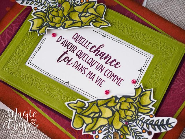Carte de reconnaissance Stampin' Up! faite avec le jeu d'étampes Maison de campagne