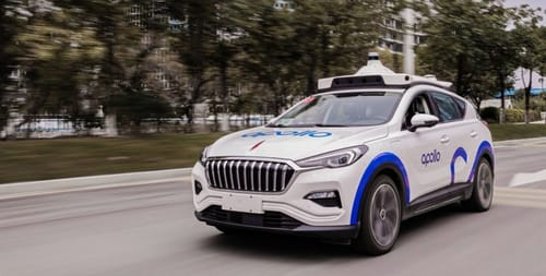 Baidu is testing commercially self-driving taxis in China