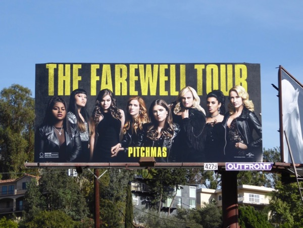 Pitch Perfect 3 movie billboard